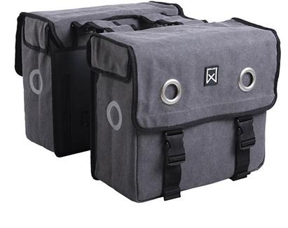 Willex Double Bag Canvas Grijs
