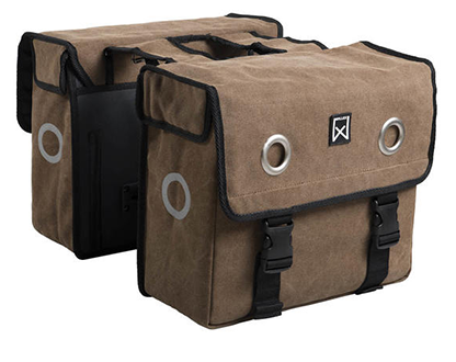 Willex Double Bag Canvas Bruin